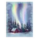 NORTHERN LIGHTS & SNOWFLAKES by SHARON SHARPE Postcards