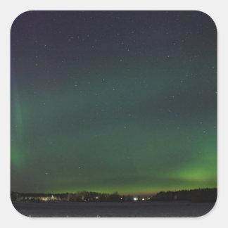 Northern Lights Square Sticker