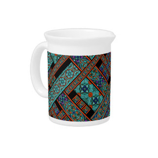 Northern Lights Stained Glass Pitcher