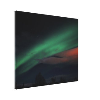 Northern Lights Starry Sky Canvas Print