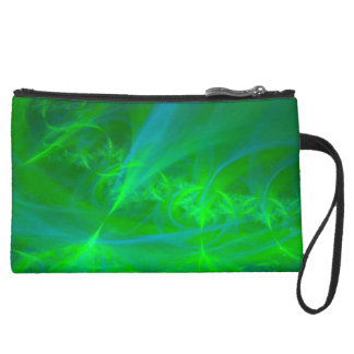 Northern Lights Suede Wristlet