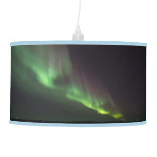 Northern Lights Trees Nature Landscapes Skies Hanging Lamp