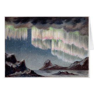 northern lights vintage Polar Lights Vintage old Card