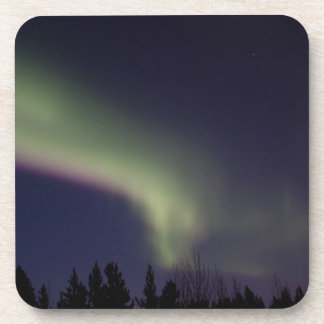 Northern Lights with a Streak of Purple Beverage Coaster