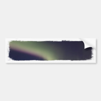 Northern Lights with a Streak of Purple Car Bumper Sticker