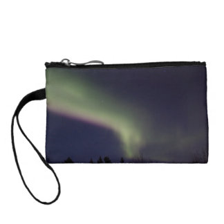 Northern Lights with a Streak of Purple Change Purse
