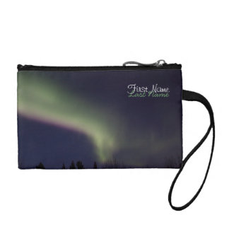 Northern Lights with a Streak of Purple; Custom Coin Purse