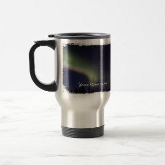 Northern Lights with a Streak of Purple; Custom Travel Mug