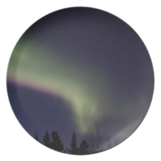 Northern Lights with a Streak of Purple Plate