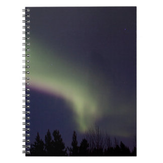 Northern Lights with a Streak of Purple Spiral Notebook