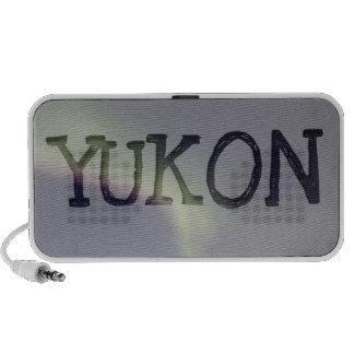 Northern Lights with a Streak of Purple; Yukon Mini Speakers