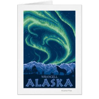 Northern Lights - Wrangell, Alaska Greeting Card