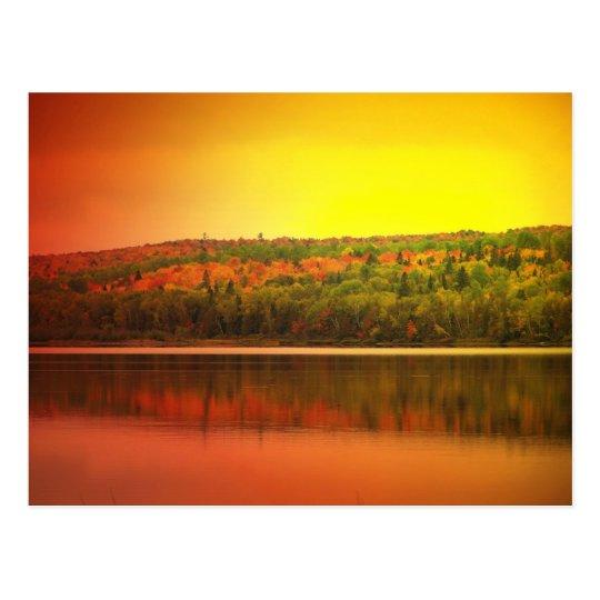 Northern Maine Sunset Postcard
