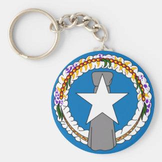 northern mariana islands basic round button keychain