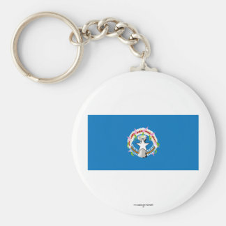 Northern Mariana Islands Flag Basic Round Button Keychain
