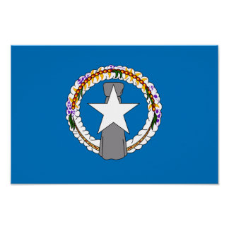 Northern Mariana Islands Flag Poster