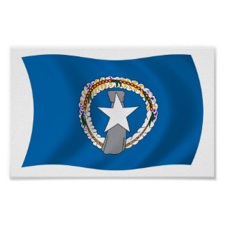 Northern Mariana Islands Flag Poster Print