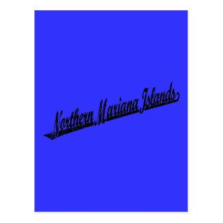 Northern Mariana Islands script logo in black dist Postcard