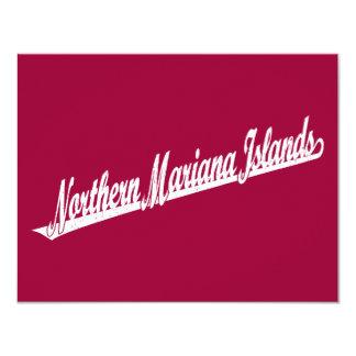 Northern Mariana Islands script logo in white dist Card