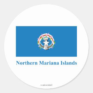 Northern Mariana Islands señalan por medio de una Pegatinas Redondas