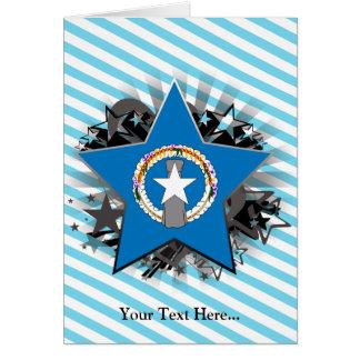 Northern Mariana Islands Star Greeting Card