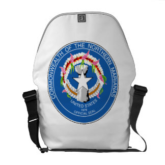 Northern Mariana Islands State Seal Messenger Bags