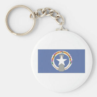 Northern Marianas Flag Basic Round Button Keychain