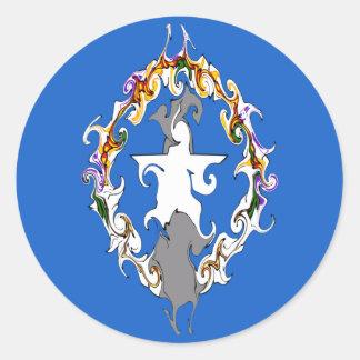 Northern Marianas Gnarly Flag Classic Round Sticker