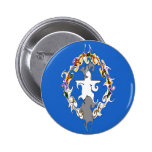 Northern Marianas Gnarly Flag Pinback Button