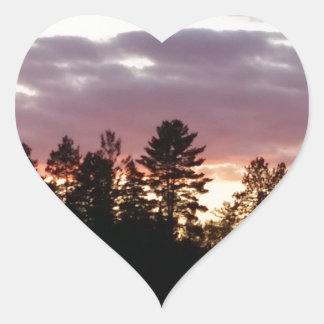 northern Michigan Sunrise Heart Sticker
