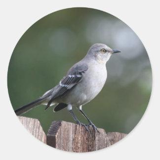 Northern Mockingbird Classic Round Sticker