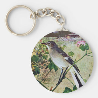 Northern Mockingbird Keychain