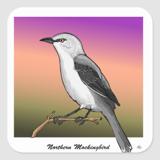 Northern Mockingbird rev.2.0 Buttons and Stickers