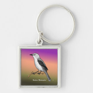 Northern Mockingbird rev.2.0 Buttons and Stickers Keychain