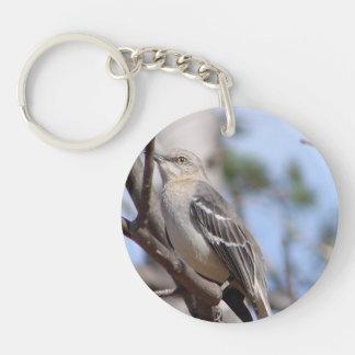 Northern Mockingbird Single-Sided Round Acrylic Keychain