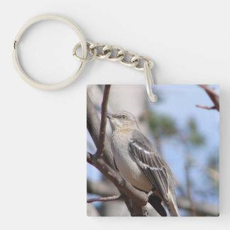 Northern Mockingbird Single-Sided Square Acrylic Keychain