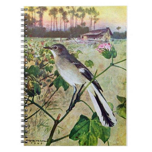 Northern Mockingbird Spiral Notebooks