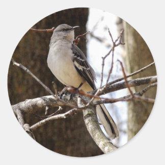 Northern Mockingbird Round Sticker