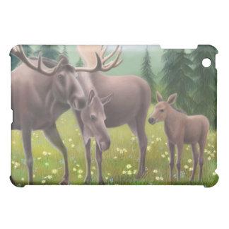 Northern Moose Family iPad Mini Cover