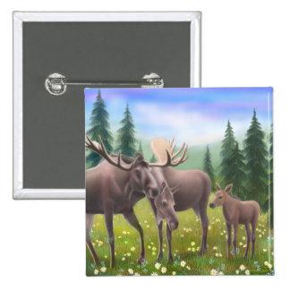 Northern Moose Family PIn