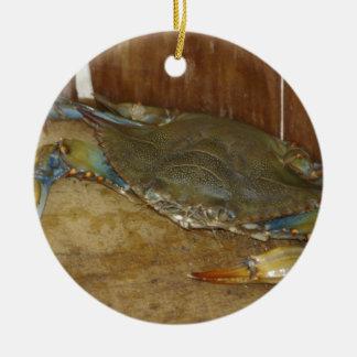 Northern Neck Crab Ceramic Ornament