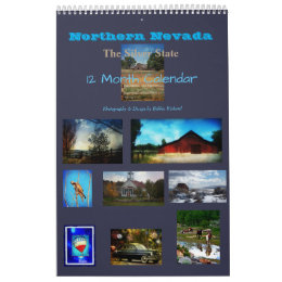 Northern Nevada The Silver State 12 Month Calendar