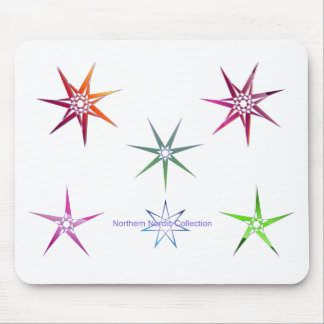 Northern Nordic Star Mouse Mat