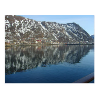 Northern Norway, Reflections in a fijord Postcard