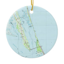 Northern Outer Banks North Carolina Map (1985) Ceramic Ornament