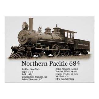 Northern Pacific No. 684 Poster