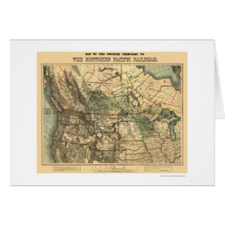 Northern Pacific Railroad Map 1871 Card