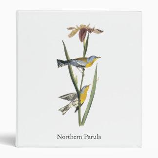 Northern Parula, John Audubon 3 Ring Binder