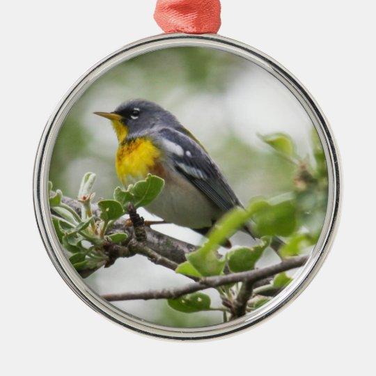 Northern Parula Metal Ornament