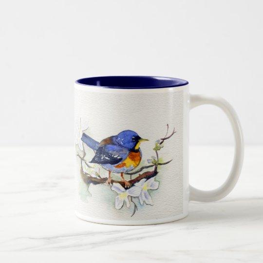 Northern Parula Two-Tone Coffee Mug